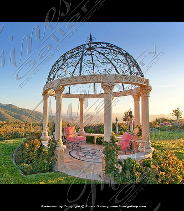 Light Rosetta Marble Gazebo