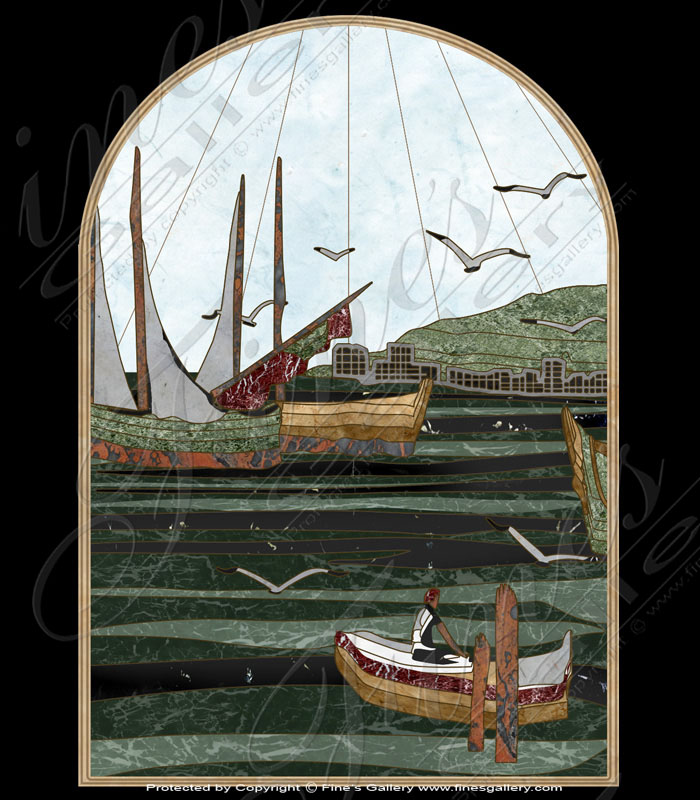 Out to Sea Marble Inlay