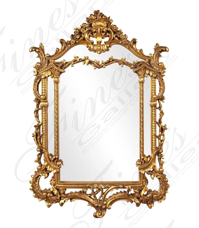 French Louis XV Gold Gild Mirror