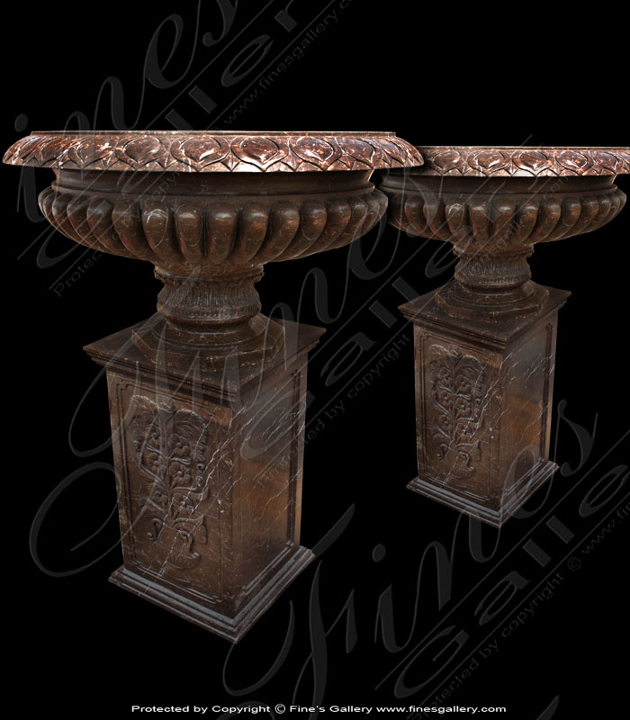 Brown Marble Planter