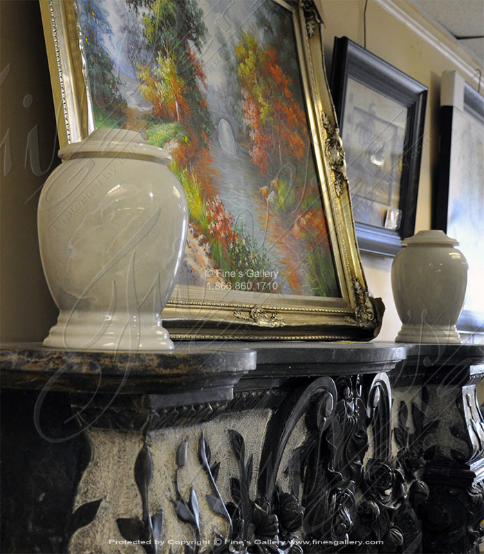 Classic White Marble Urns