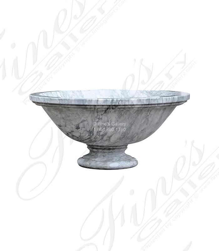 Modern Arabascato Planter, Fire Feature or Fountain
