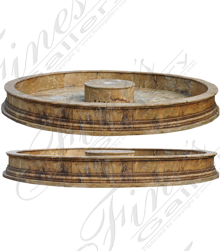 Circular Solid Granite Pool Surround