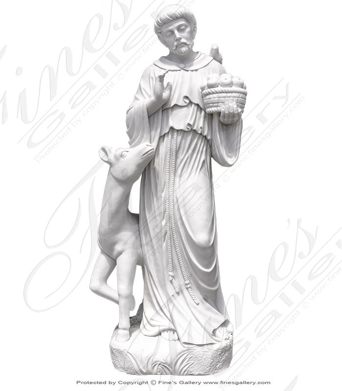 Saint Francis Marble Statue