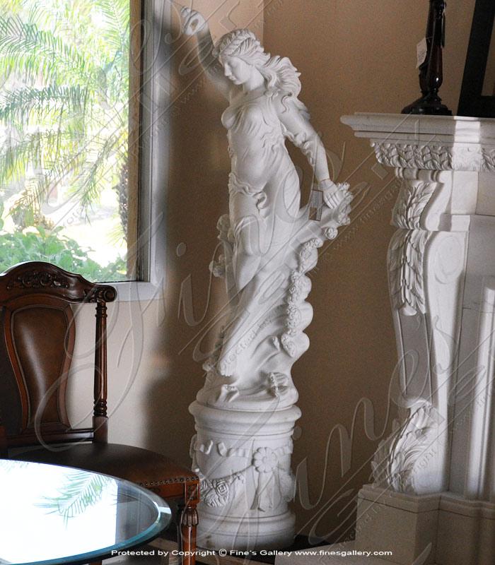 Pure White Female Statue
