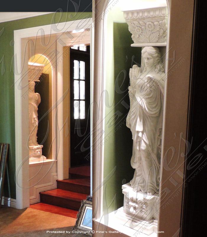 Roman Women Marble Pilasters