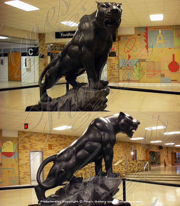 Black Marble Panther Mascot
