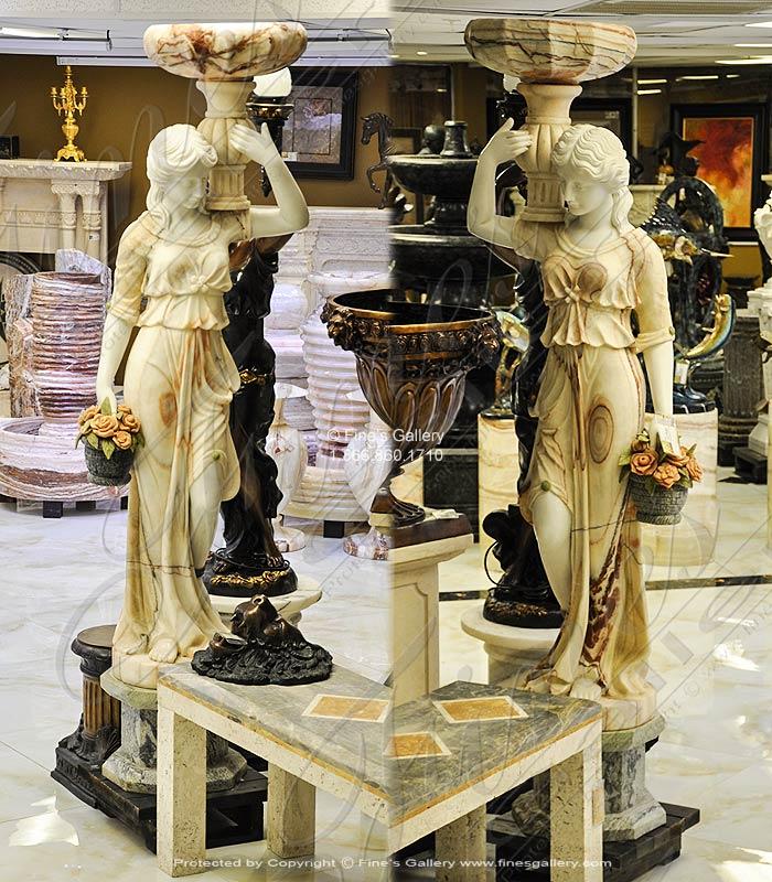 Exotic Marble Statue Pair