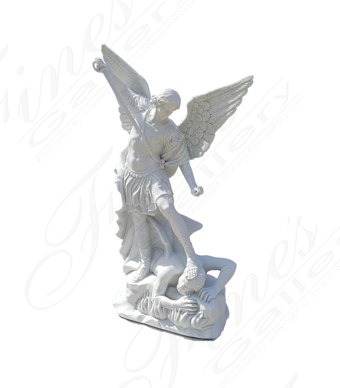 Life Size St Michael Marble Statue