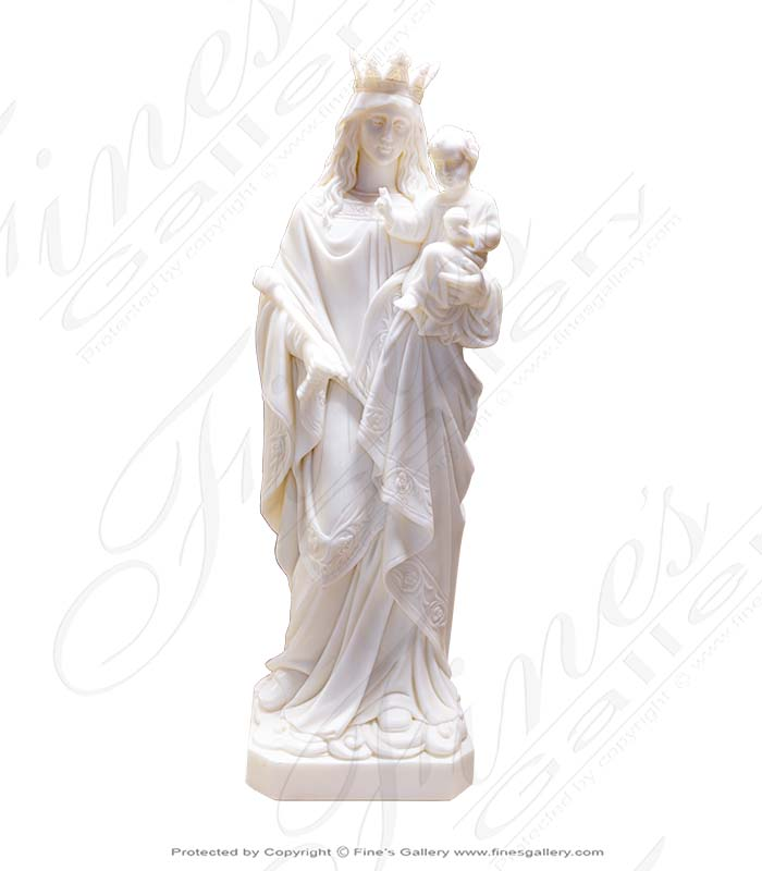 Crowned Mother and Baby Jesus