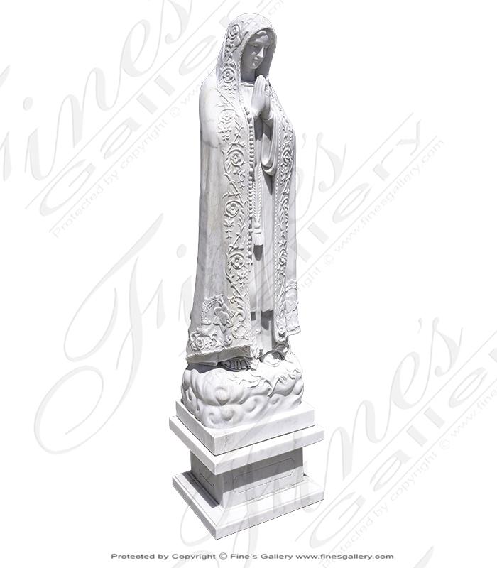 White Marble Fatima Statue