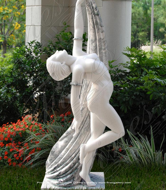 Nude Dancer Marble Statue