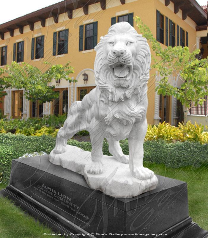 Marble Lion Mascot