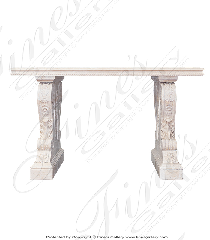 Light Cream Credenza Natural Marble Table
