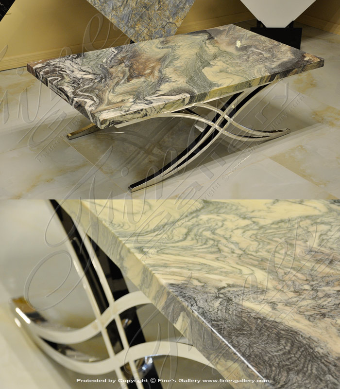 Exotic Polished Granite Coffee Table