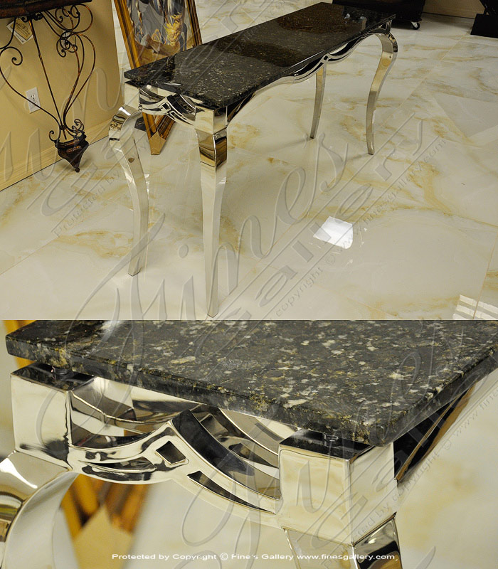 Polished Granite Console Table