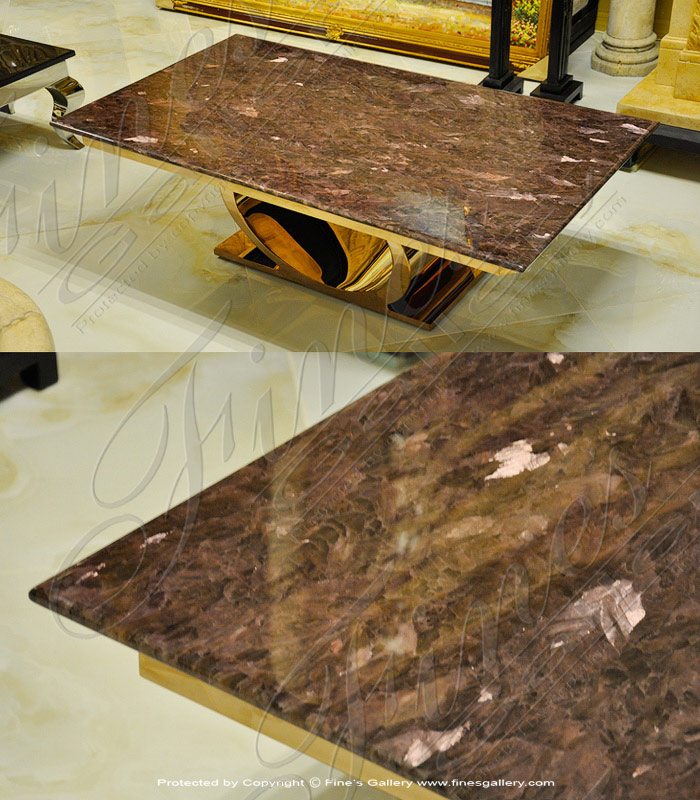 Lavender Marble Coffee Table