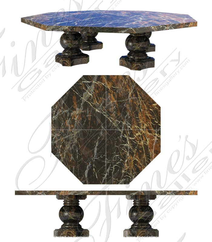 Octagonal Marble Table