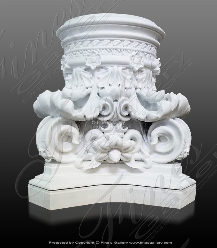 European Corinthian Marble Table Base
