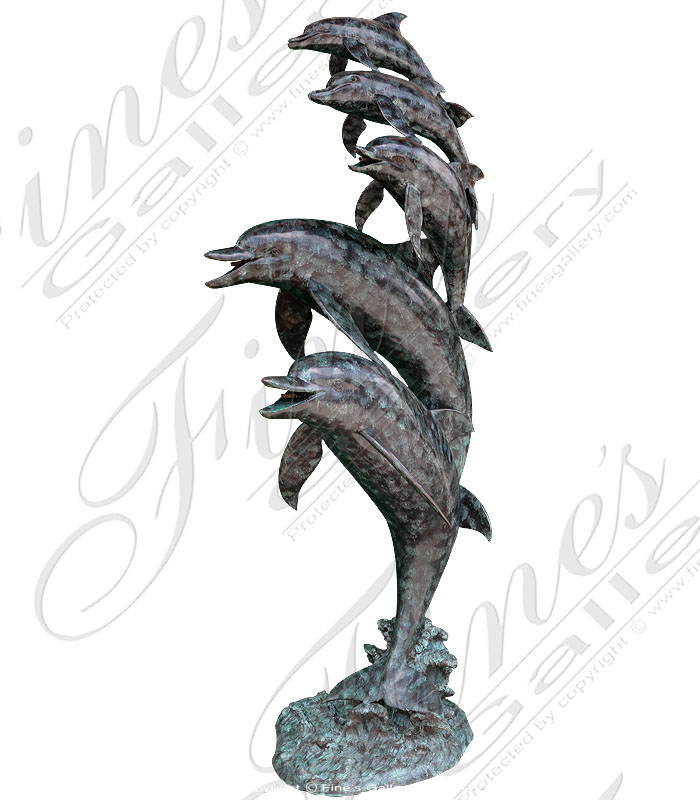 Bronze Fountains  - Five Dolphins Dancing - BF-154