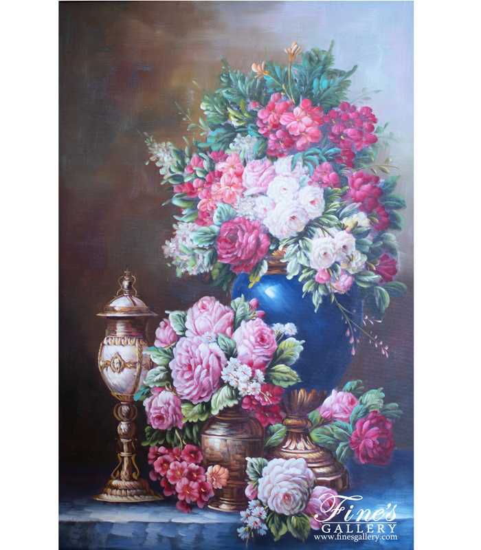Roses Pink and Red Canvas Painting