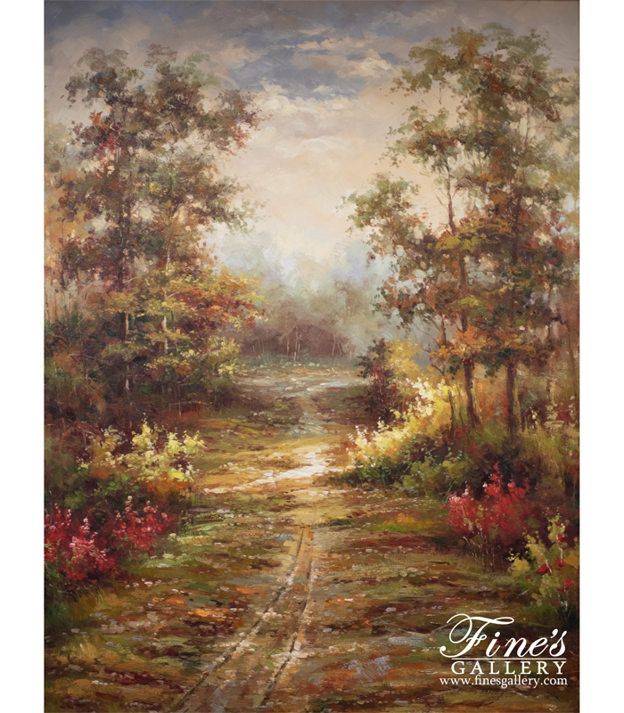 Following the Path Canvas Painting