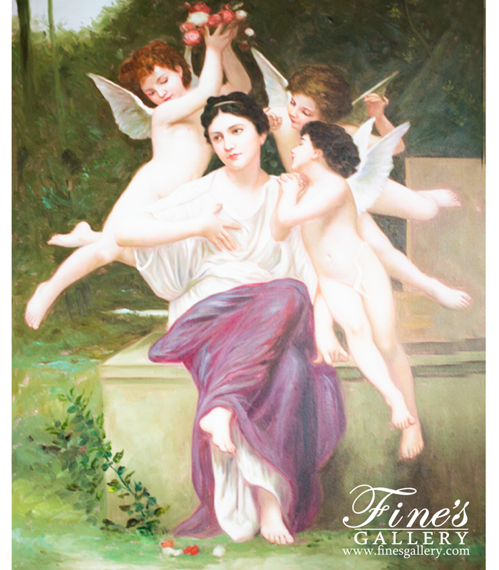 Angels Whispering Canvas Painting