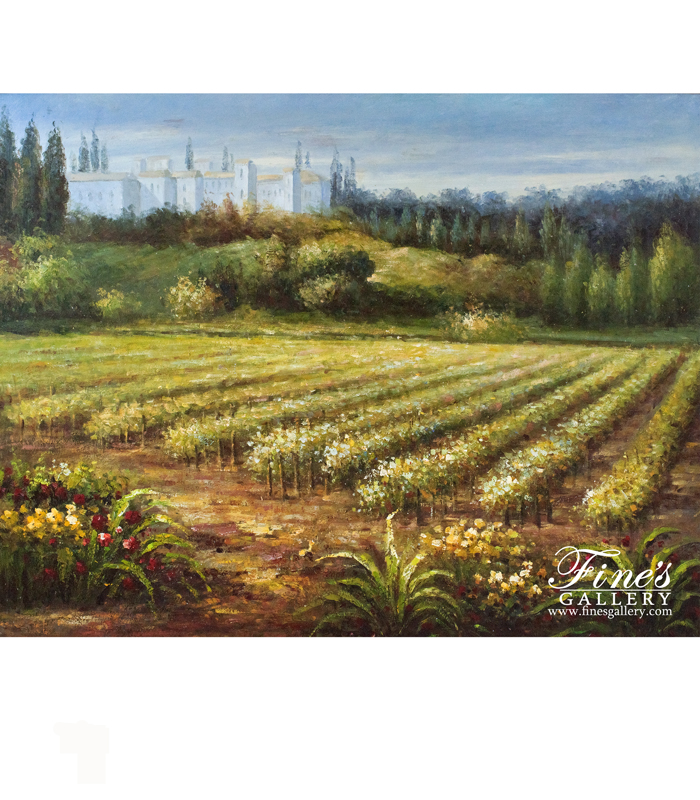 Green Fields and Blue Skies Canvas Painting