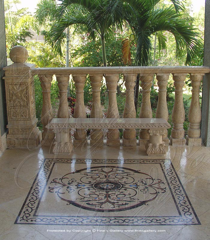 Marble Balusters  - Antique Style Marble Baluster - BAL-045
