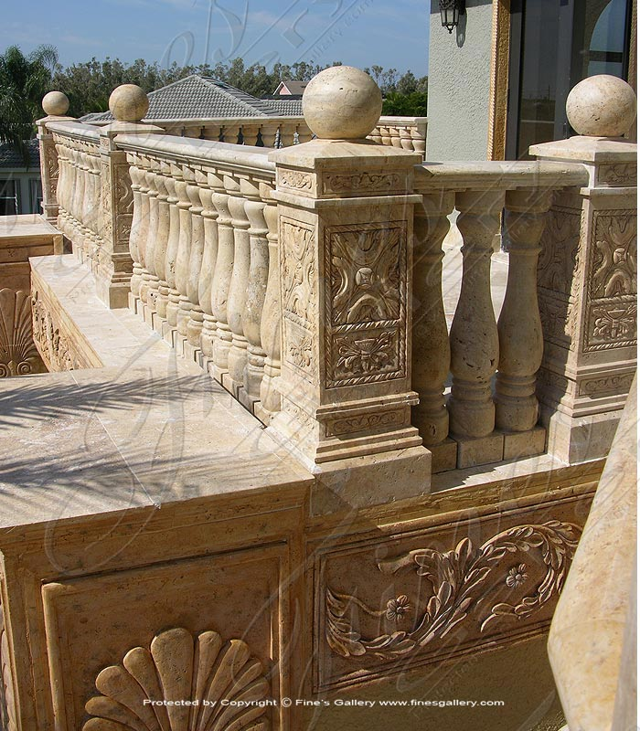 Marble Balusters  - Antique Style Marble Baluster - BAL-048