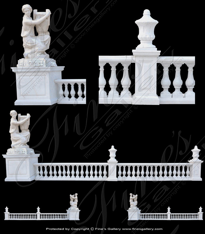 Marble Balusters  - White Marble Statuary Baluster - BAL-050