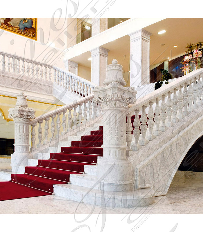 Custom Carrara Staircase