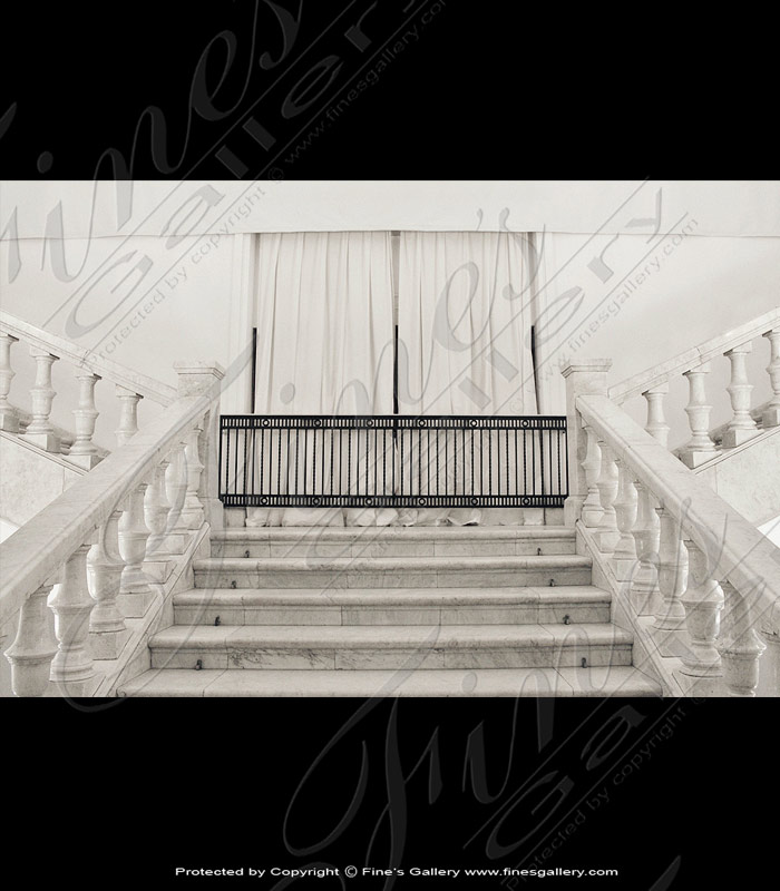 Marble Balusters  - Modern Marble Stairs - BAL-056