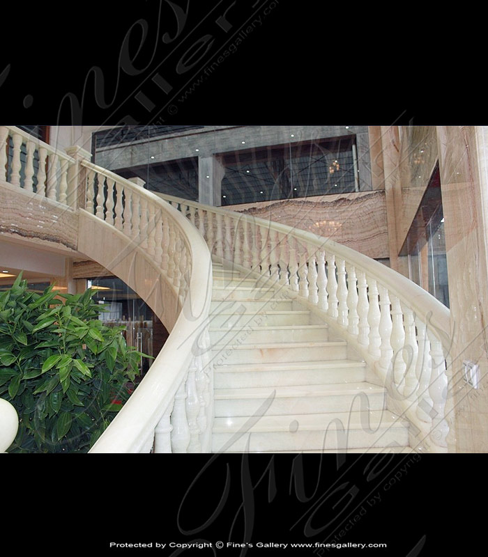 Marble Balusters  - White Onyx Staircase - BAL-057