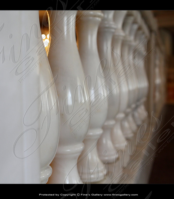 Marble Balusters  - Pure White Marble Baluster - BAL-060
