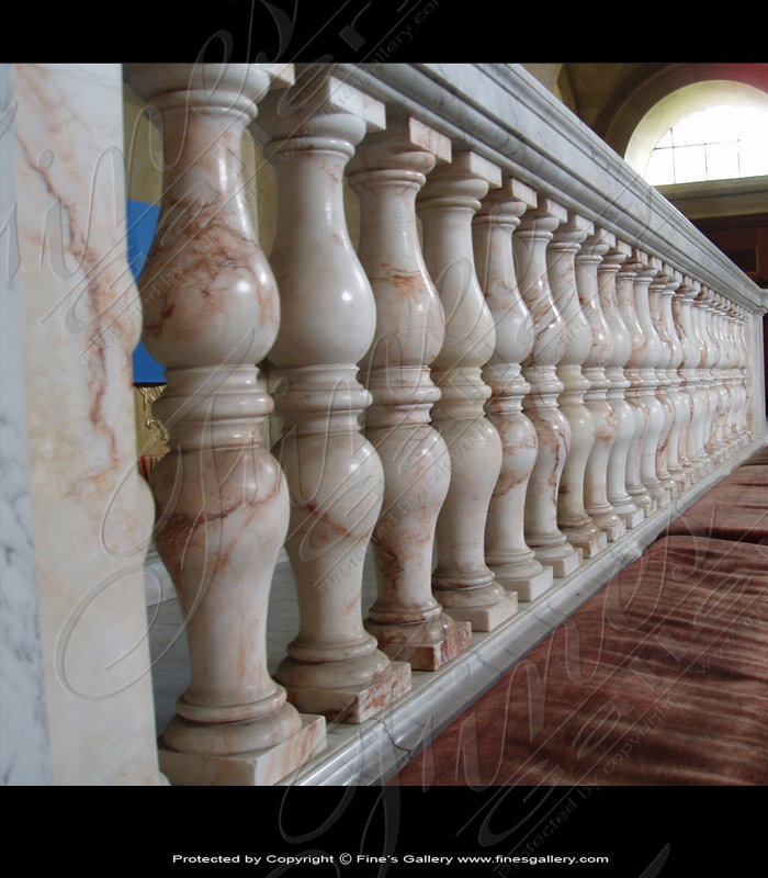 Marble Balusters  - Fior Di Pesco Marble Baluster - BAL-061