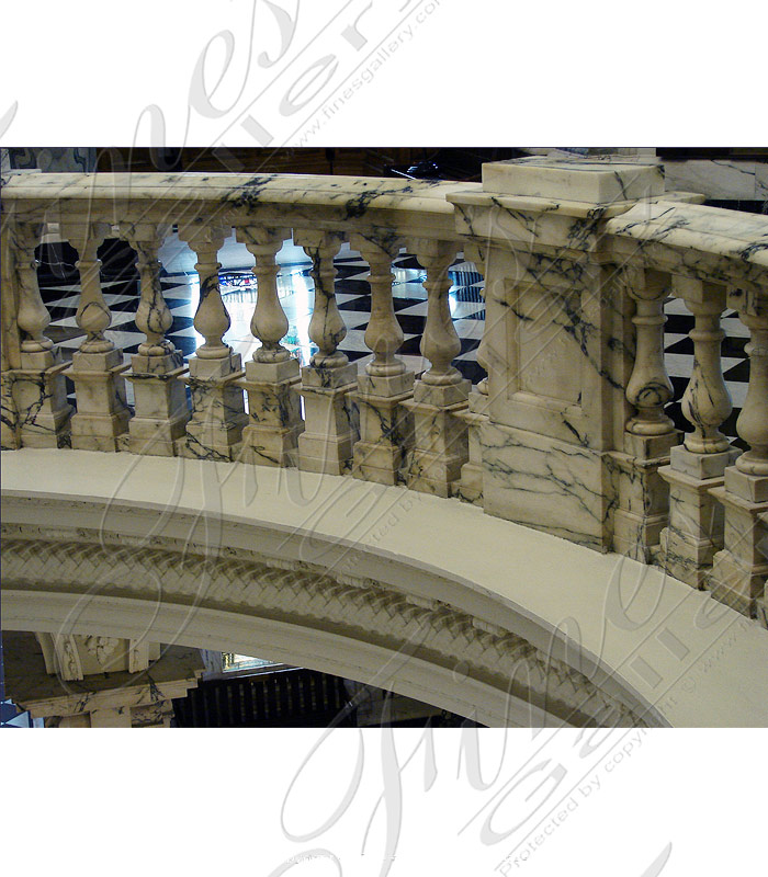 Marble Balusters  - Verdi Nuvoloso Balustrade - BAL-062