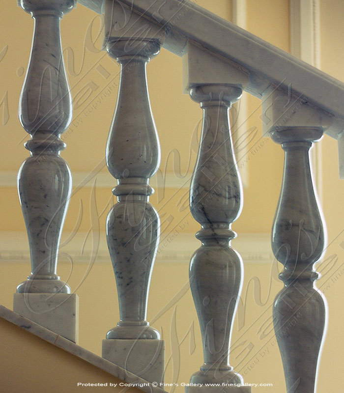 Marble Balusters  - Metrix Marble Baluster Stairs - BAL-069
