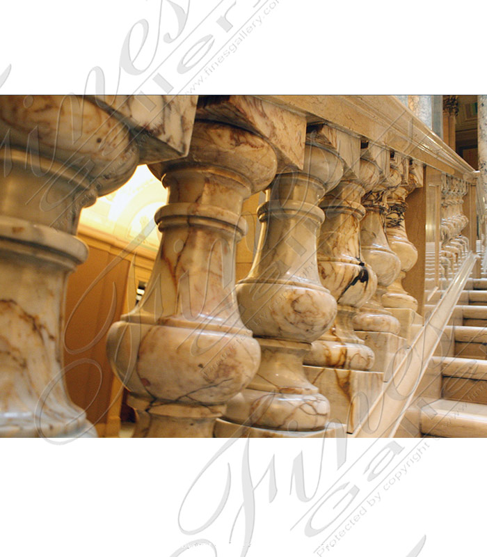 Marble Balusters  - Fior Di Pesco Marble Baluster - BAL-070
