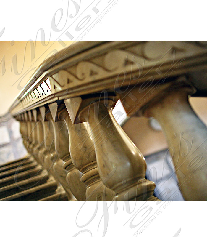 Marble Balusters  - White Marble Stairs - BAL-072