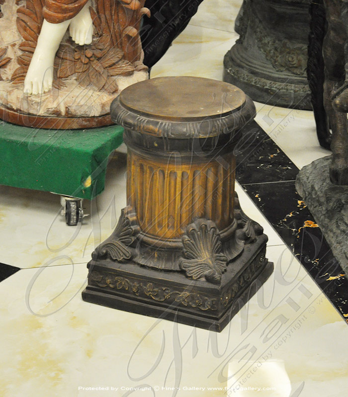 Bronze Bases  - Fluted Column Style Bronze Base - BB-109