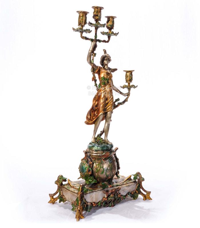 Bronze Maiden Candelabra
