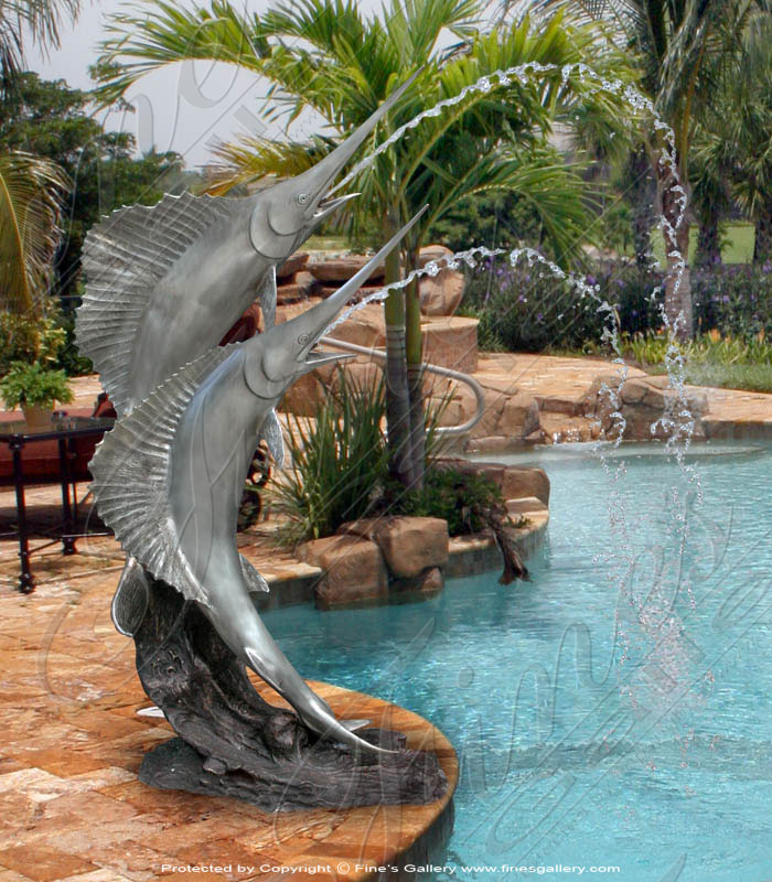 Bronze Fountains  - Sword Fish Fountain - BF-111
