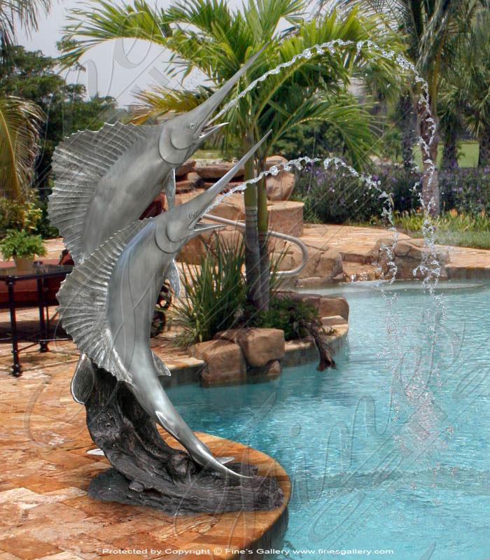 Bronze Fountains  - Sword Fish Fountain - BF-111