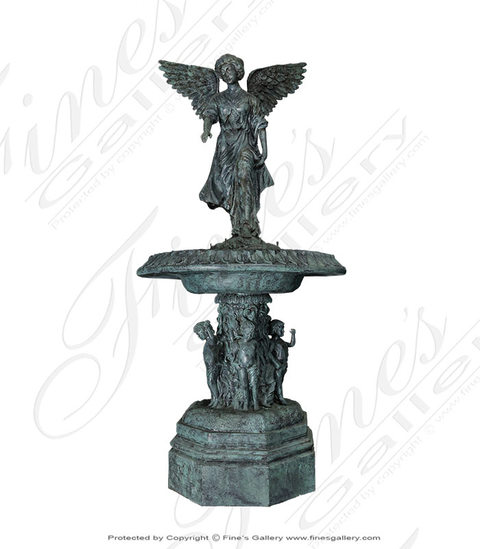 Female Angel Bronze Fountain