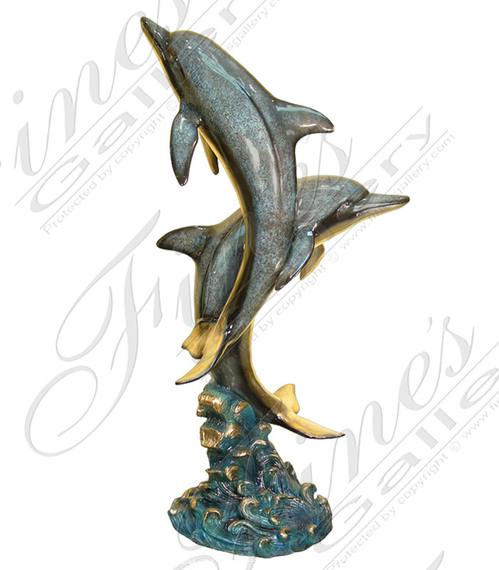 Dolphins Bronze Fountain