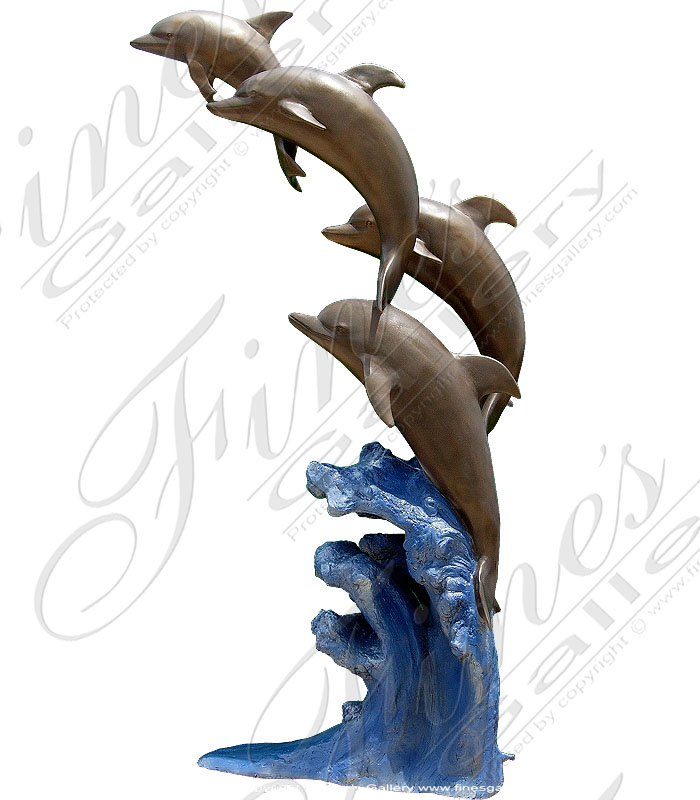 Bronze Fountains  - Bronze Dolphin Fountain - BF-132