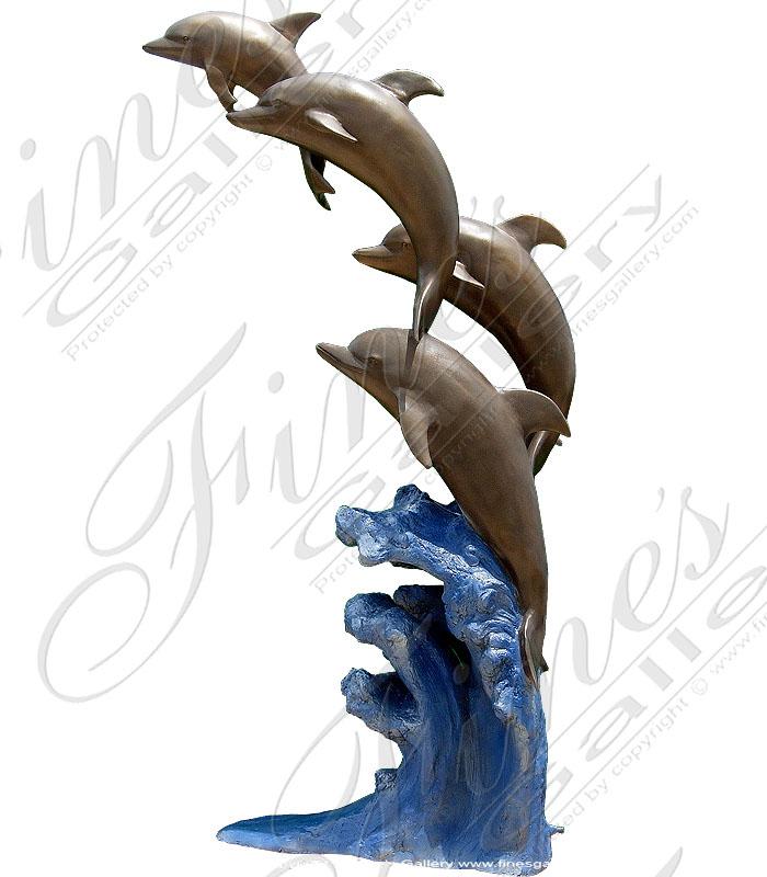 Bronze Dolphin Fountain