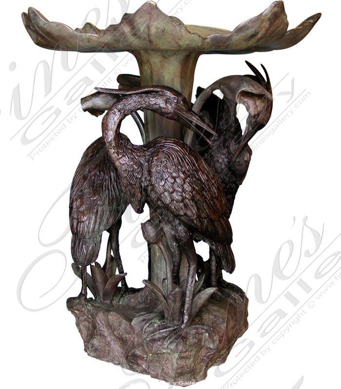 Bronze Fountains  - Three Bird Bronze Fountain - BF-174