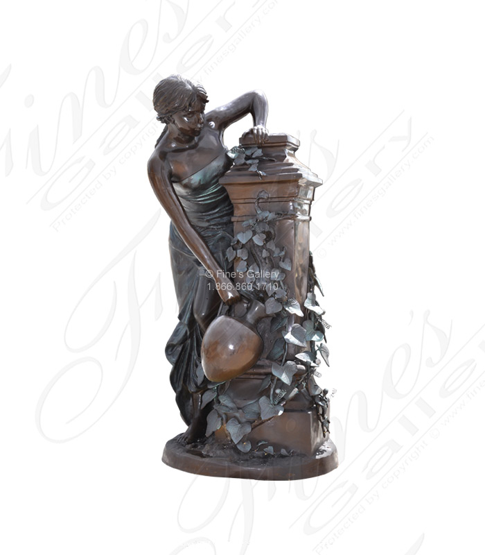 Bronze Fountains  - Graceful Maiden Bronze Fountain - BF-101